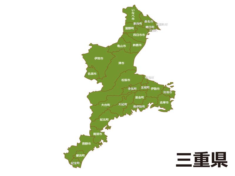 三重県内で員弁郡東員町の位置をWEB閲覧者にわかりやすいように案内している地図画像