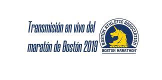 Transmisión del maratón de Bostón 2019