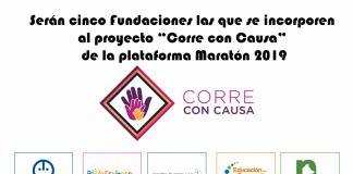 Serán cinco Fundaciones las que se incorporen al proyecto Corre con Causa de la plataforma Maratón 2019