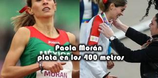 Paola Morán se cuelga la medalla de plata en la final de los 400 metros