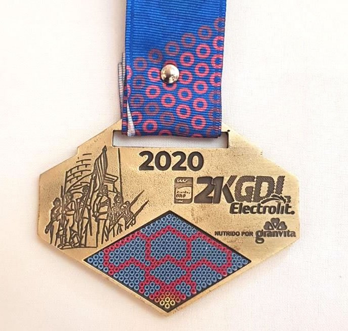 medalla frente