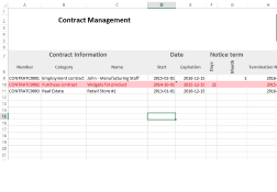 Microsoft excel is a powerful application that is mostly used for spreadsheet management. Contract Management Excel Template Expiration Reminder