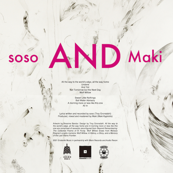 soso and Maki - If and Only If - Back Cover