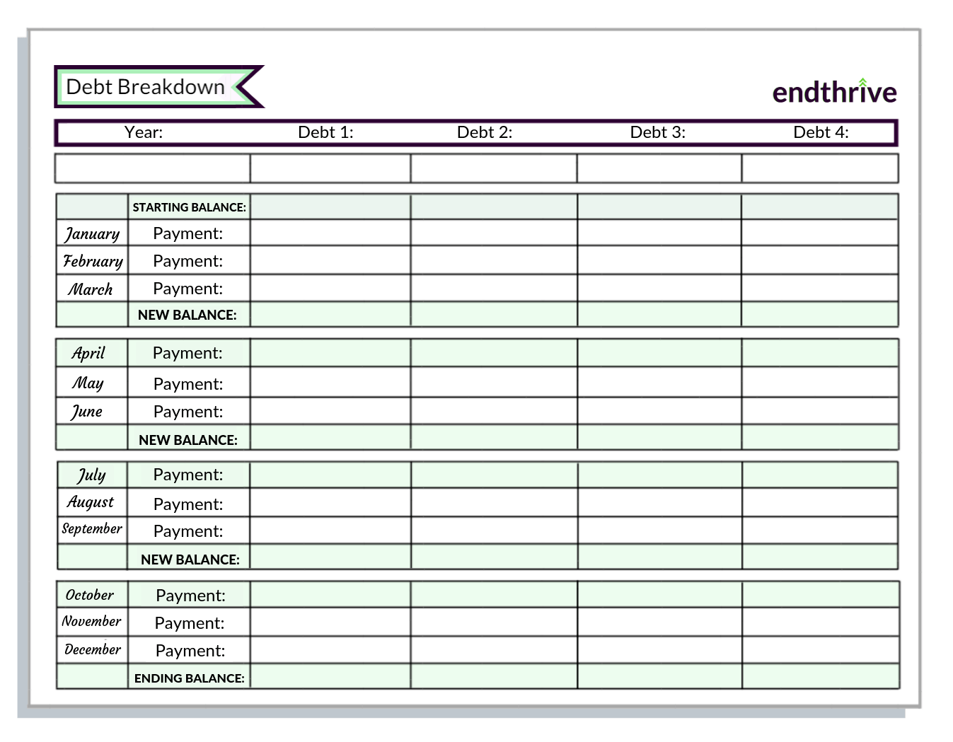 Printable Initiative Tracker That Are Clean