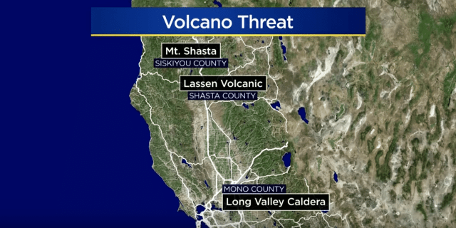 Volcanoes are a hidden threat in the state of California