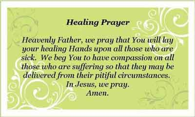 Why I'm Praying For The Sick