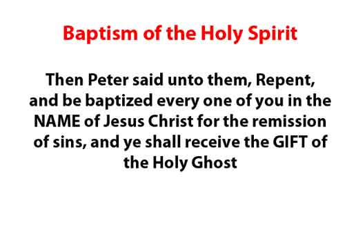 Baptism of Holy Ghost