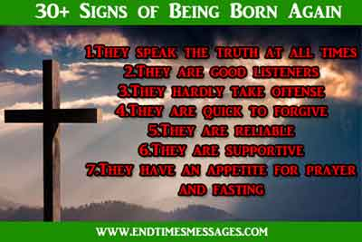 signs of being born again