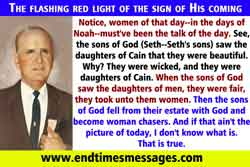 The flashing red light of the sign of His coming