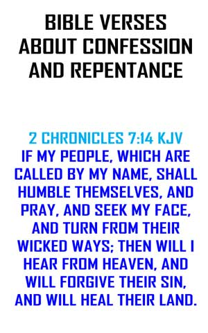 bible verses about confession and repentance