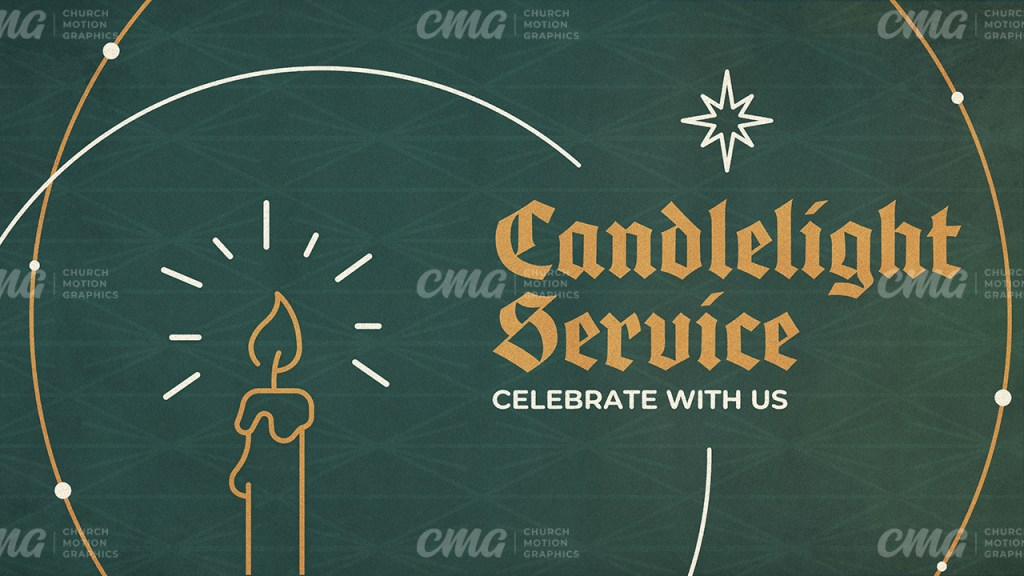 Candlelight Service **This graphic is available for purchase from Church Motion Graphics: https://shop.churchmotiongraphics.com/library/template