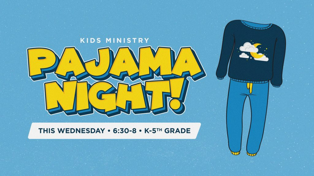 Pajama Night Children's Ministry