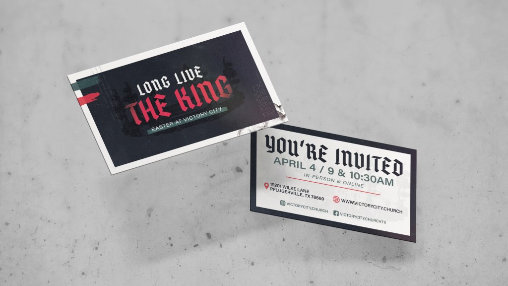 Long Live The King Easter Invite Card