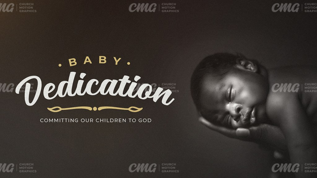 Baby Dedication Traditional Black And White Photo Light Leak-Subtitle