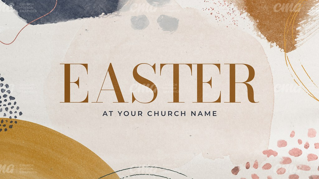 Easter Abstract Watercolor-Subtitle