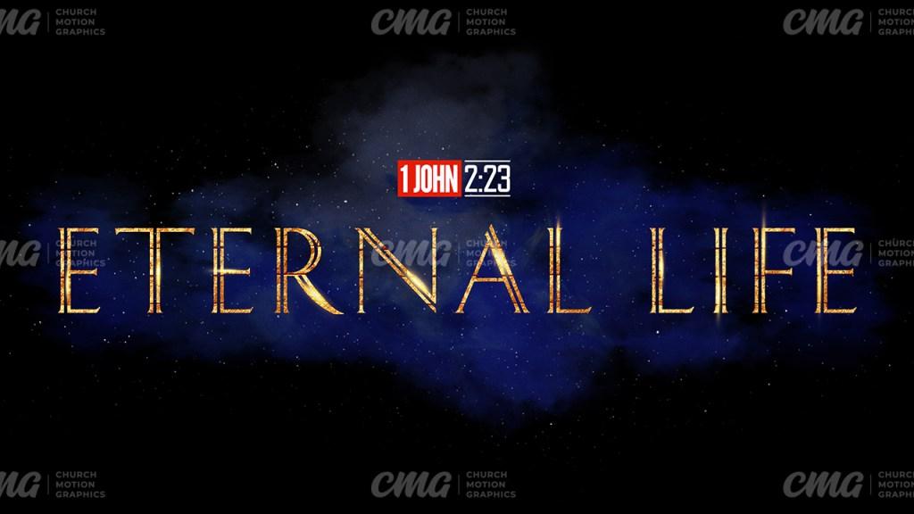 Eternal Life Galaxy Clouds Stars Gold-Subtitle