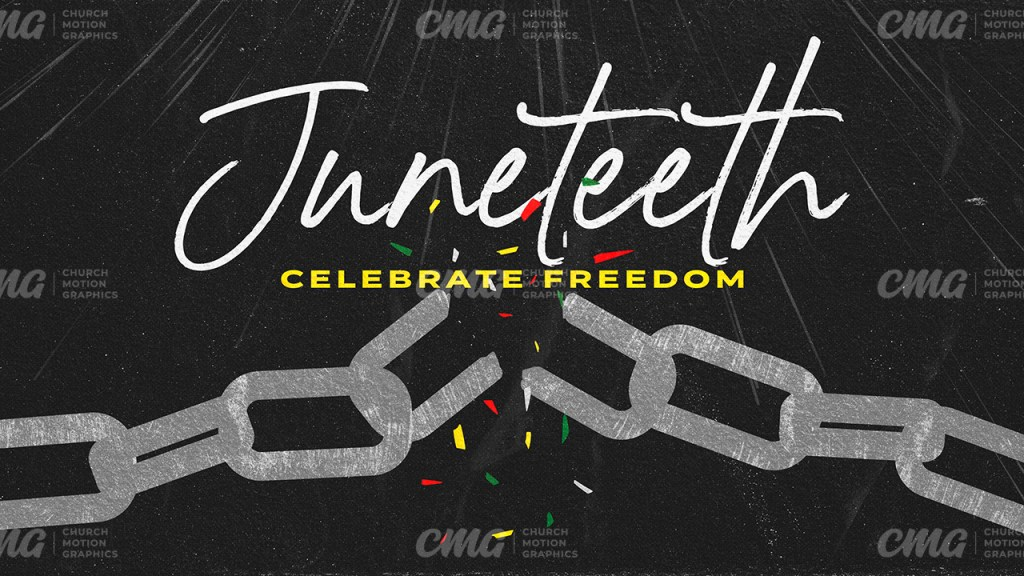 Juneteeth Broken Chains Freedom Script-Subtitle