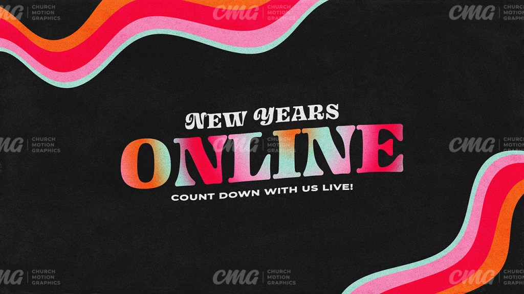 New Years Online Colorful Wavy Lines Gradient Text-Subtitle