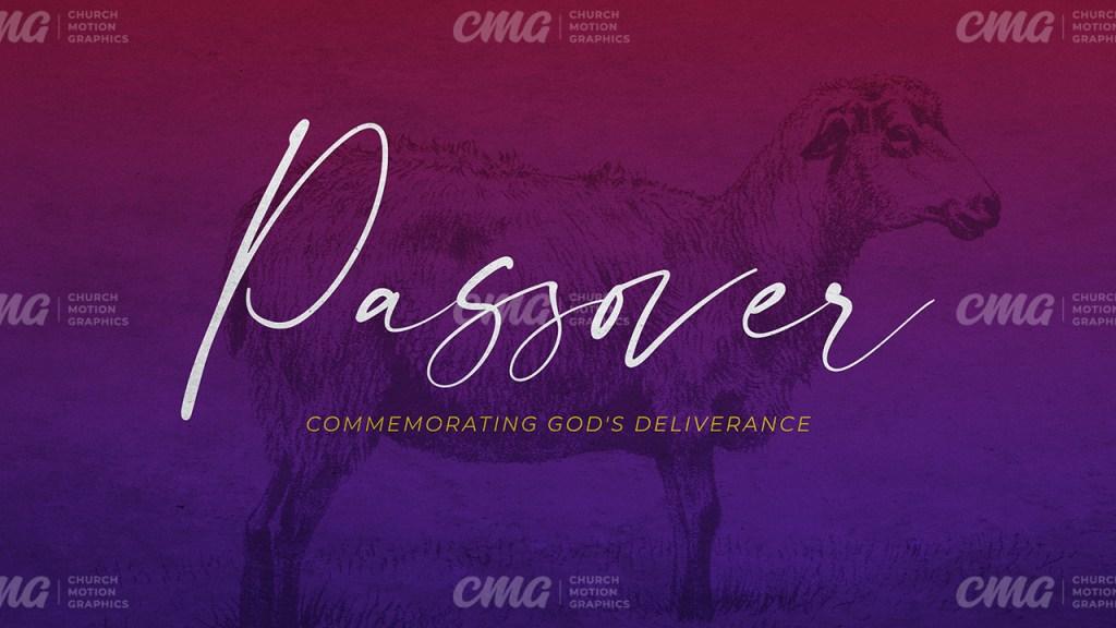 Passover Red Purple Gradient Lamb Script-Subtitle