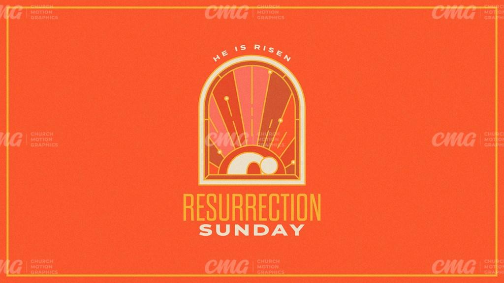 Resurrection Sunday Orange Arch Line Art Tomb-Subtitle