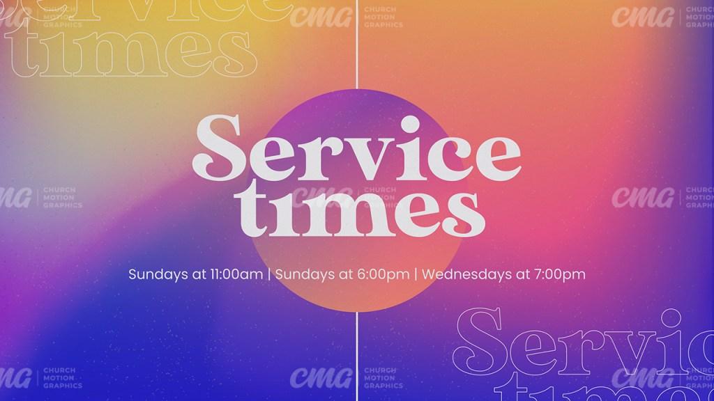 Service Times Gradient Retro Bright-Subtitle