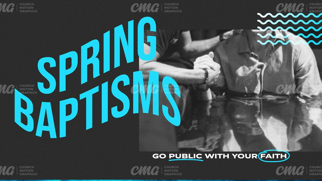 Spring Baptisms Turquoise Wave Text-Subtitle