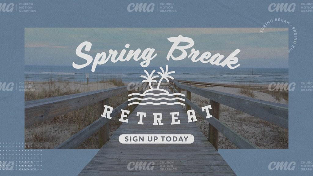 Spring Break Retreat Blue Beach Boardwalk Vintage-Subtitle