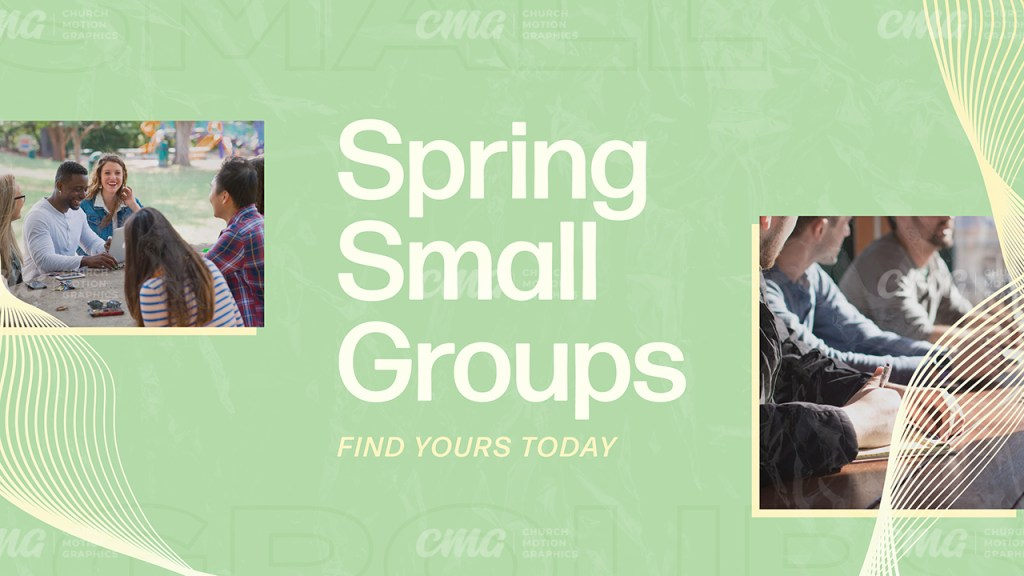 Spring Small Groups Green Yellow Wave Lines Photos-Subtitle