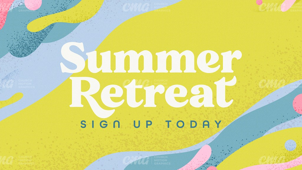 Summer Retreat Colorful Abstract Waves-Subtitle