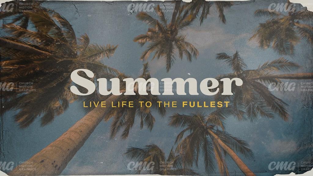 Summer Vintage Palm Trees-Subtitle