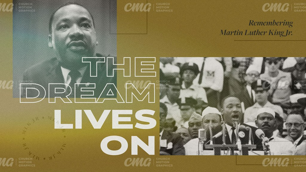 The Dream Lives On Martin Luther King Jr Gold Halftone Photos MLK-Subtitle