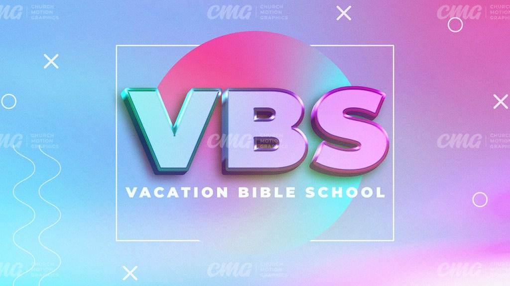 VBS Vaction Bible School 3D Text-Subtitle