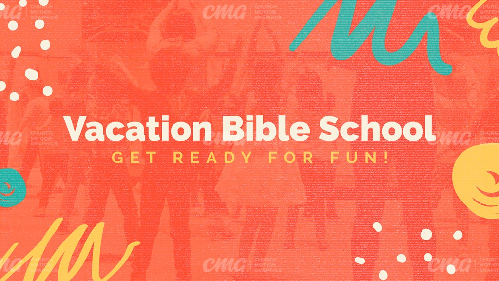 Vacation Bible School Orange Abstract Brush-Subtitle