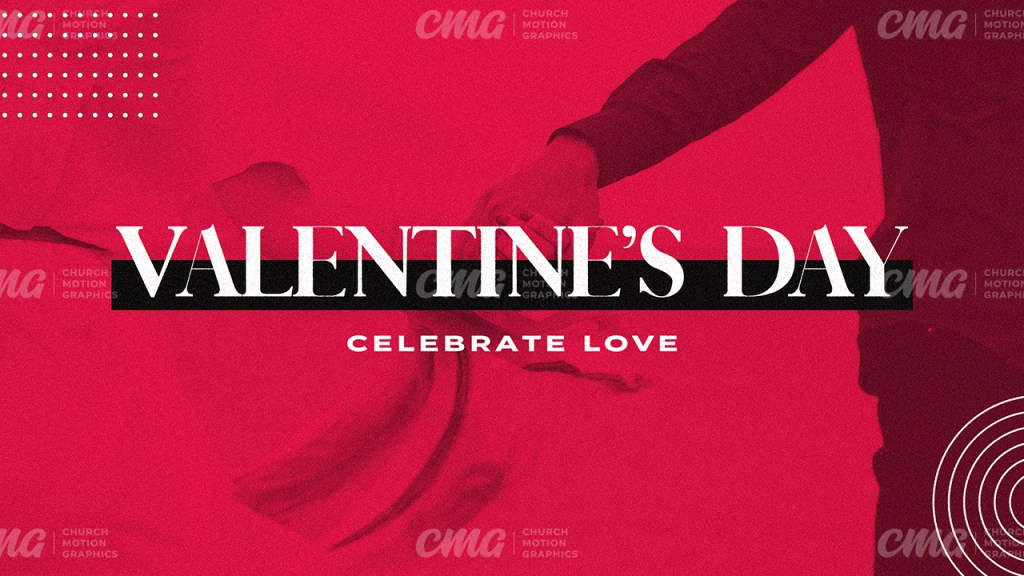 Valentine's Day Red Duotone Photo Shapes-Subtitle