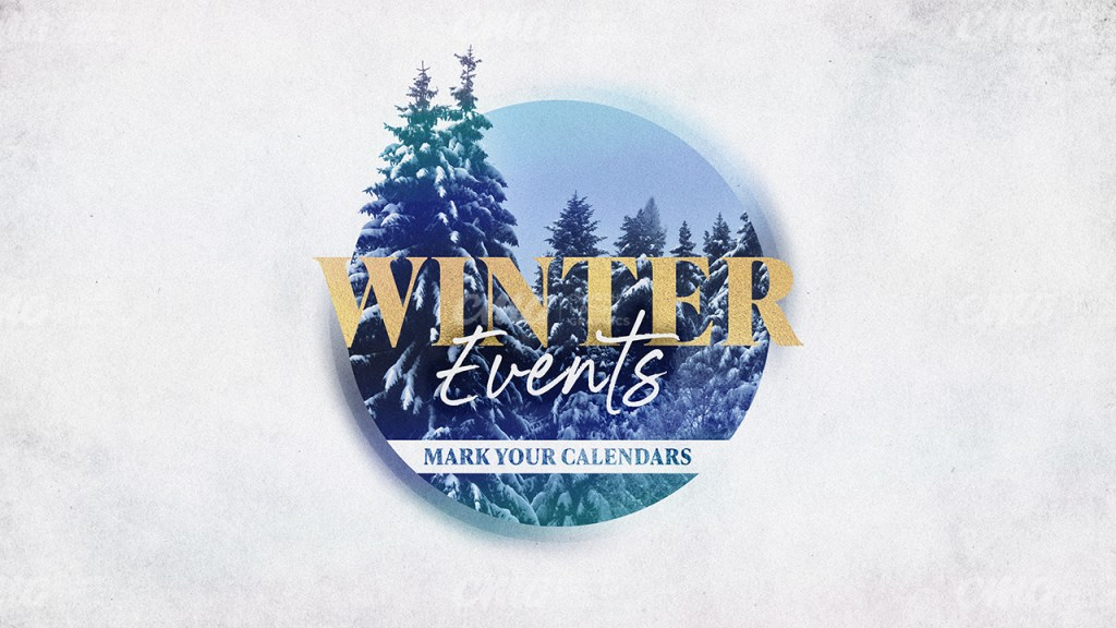 Winter Events White Trees Circle Gold Text-Subtitle