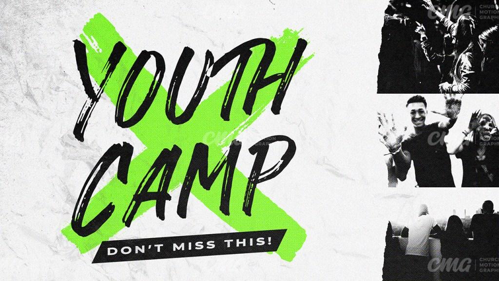 Youth Camp Neon Brush Black White-Subtitle