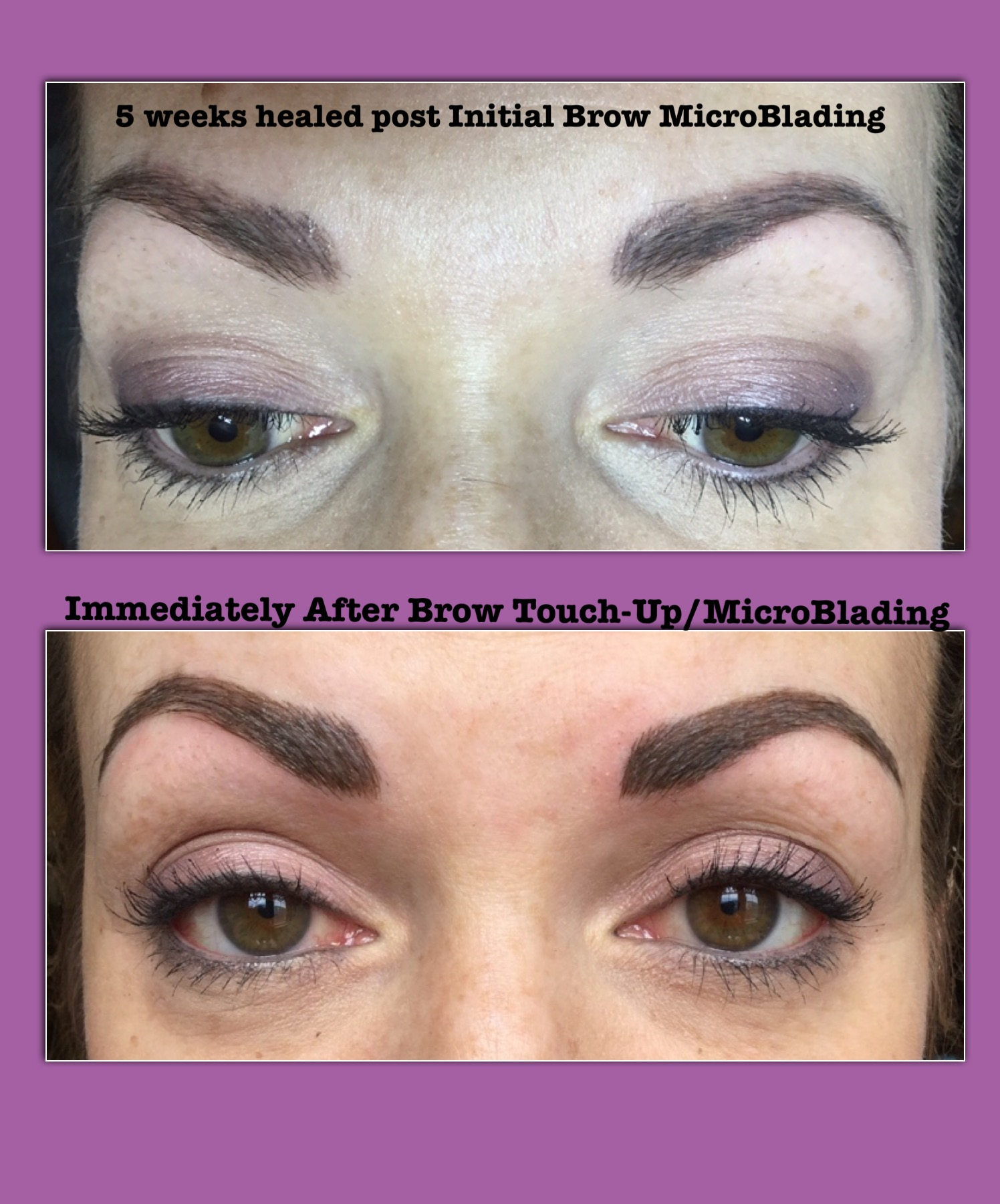 Microblading Omaha : microblading, omaha, Healed, Brows, Initial, Micro-Blading, Final, Micro-Blade, Touch-Up(*), Enduring, Esthetics