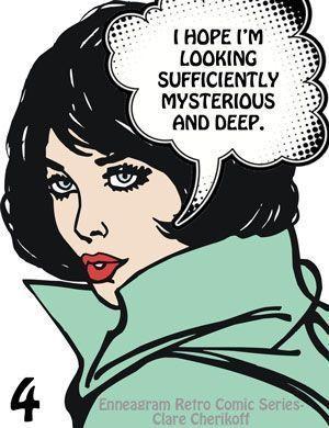 Espero que mi look sea lo suficientemente misterioso y profundo.