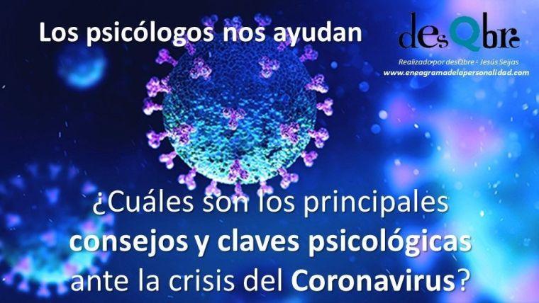 consejos y claves psicológicas ante el Coronavirus