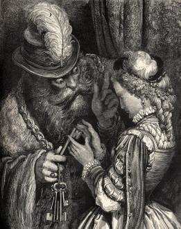 Gustave Doré, lithographie de Barbe Bleue