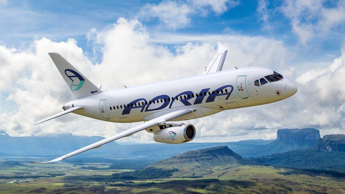 Resultado de imagen para SSJ-100 Adria Airways