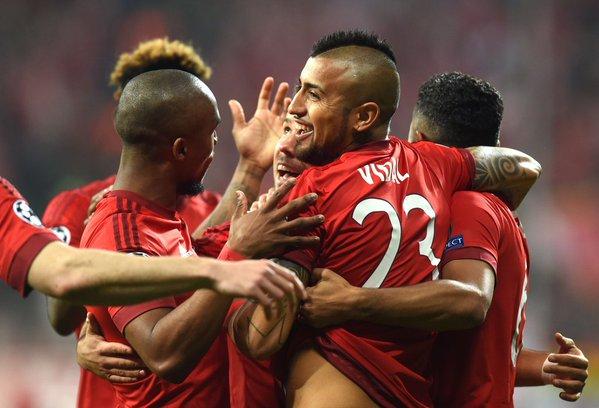 Arturo Vidal le dio el triunfo al Bayern Munich en Champions League