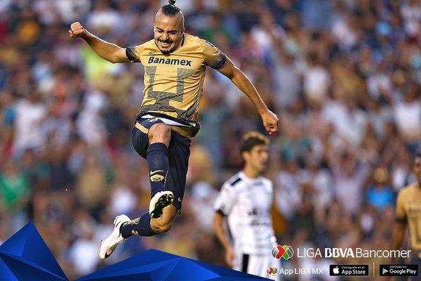 Mathías Vidangossy anota su primer gol para los Pumas de México