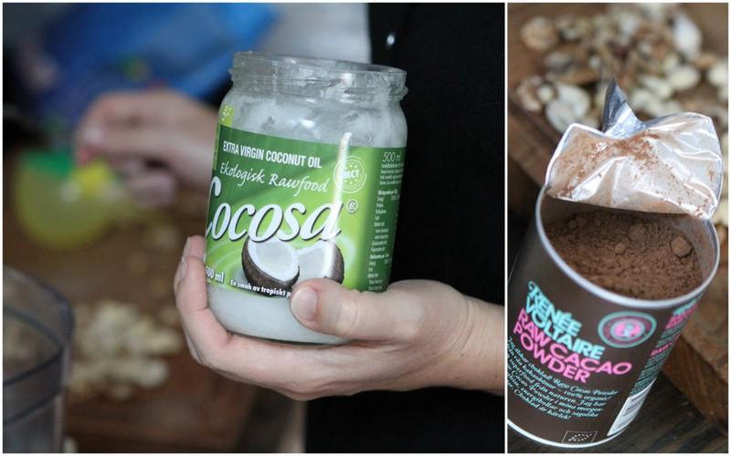 Kokosolja och raw cacao