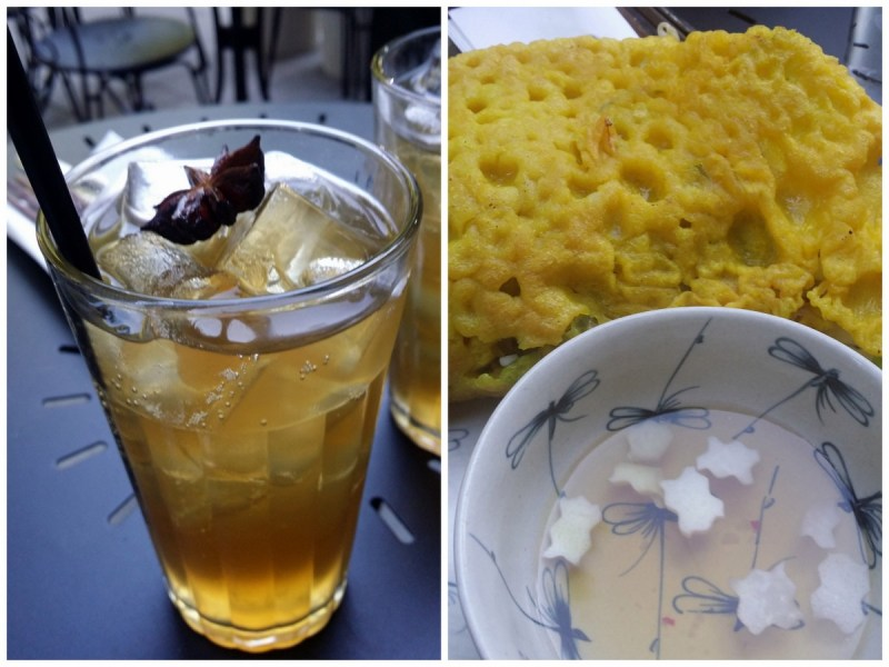 Minh mat - ginger beer (alk.fri) och rätten BÁNH XÈO