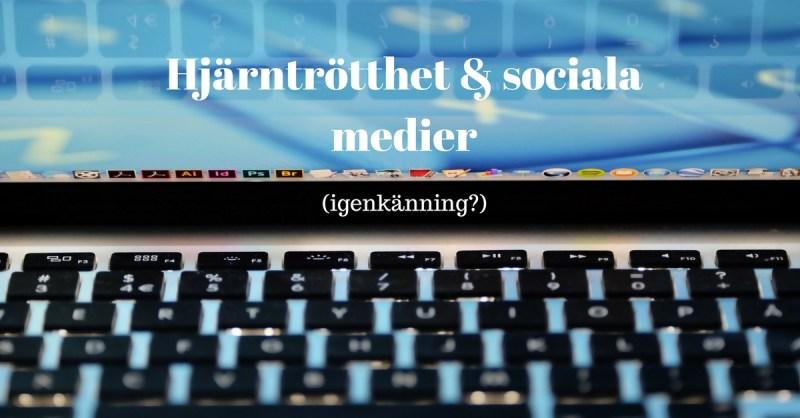 Hjärntrötthet och sociala medier bild på tangentbord