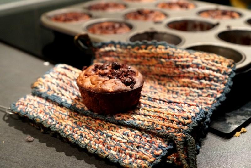 chokladmuffins på gamla bananer. matsvinn sverige 2019