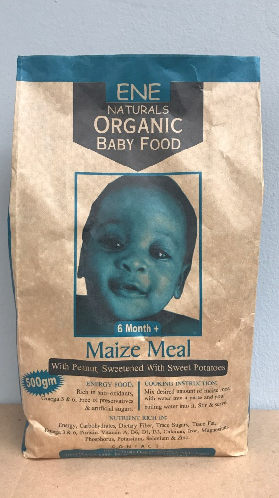 organic baby food nigeria, powder organic baby cereal, maize meal with potatoes and peanut