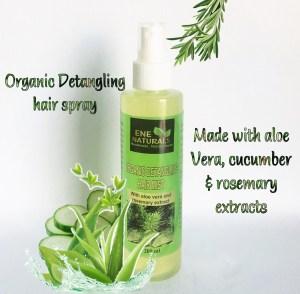 organic detangling hair spray