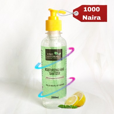 Natural Hand sanitizer with essential oils
